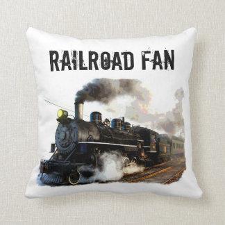 Railroad Fan & Trains Pillow