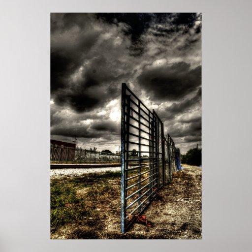 Railroad Fenceway Poster