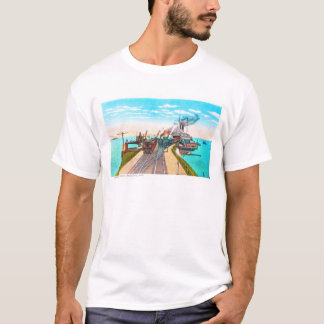 Railroad Ferry Docks, Mackinaw, Michigan T-Shirt