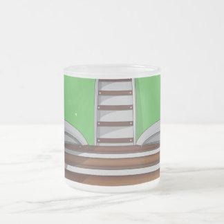 Railroad Frosted Glass Coffee Mug