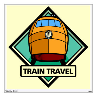Railroad Locomotive Custom Yellow Wall Decal