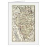 Railroad Map Of Illinois 1898 Greeting Card
