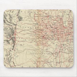 Railroad map US Mouse Pad