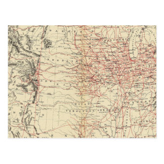 Us Map Postcards Zazzle - Us paper map