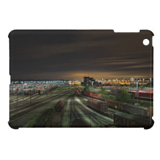 Railroad Marshalling Yard at Night Cover For The iPad Mini