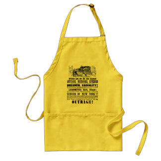 Railroad Outrage A Dreadful Casuality 1864 Adult Apron