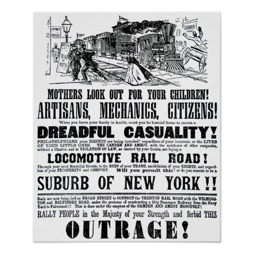 Railroad Outrage A Dreadful Casuality 1864 Poster