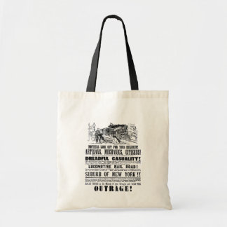 Railroad Outrage A Dreadful Casuality 1864 Tote Bag