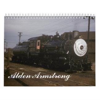 Railroad Photographs by Alden Armstrong Calendar