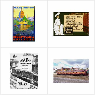 Railroad , Railway + Train Poster Collection
