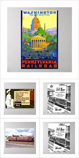 Railroad , Railway + Train Poster Collection