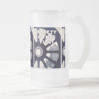 Railroad Safety Comes First Vintage Beer Mugs Frosted Glass Mug