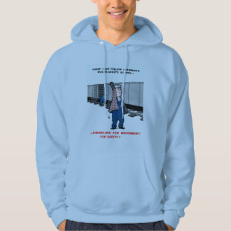 Railroad Safety Comes First Vintage Hoodie