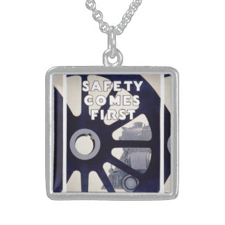 Railroad Safety Comes First Vintage NeckLace