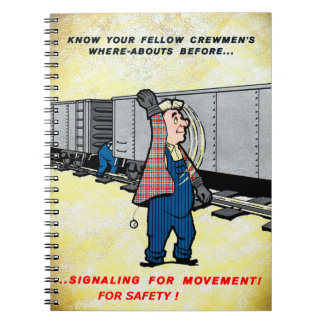 Railroad Safety Comes First Vintage Notebook