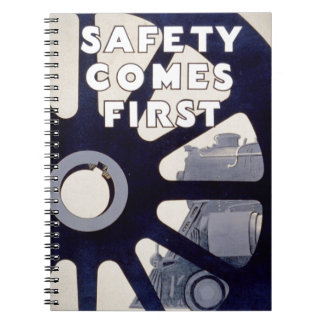 Railroad Safety Comes First Vintage Photo Notebook