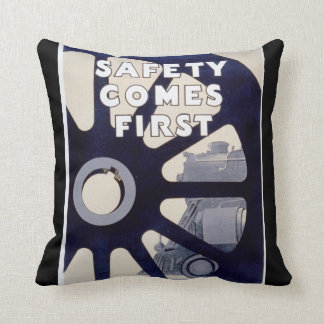 Railroad Safety Comes First Vintage Pillows