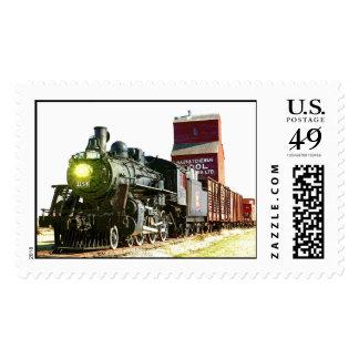 Railroad Scenery Postage Stamp