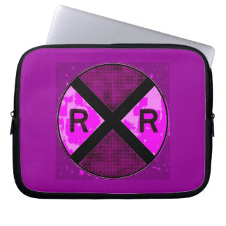 Railroad Scenery, Signs And Signals Laptop Computer Sleeve