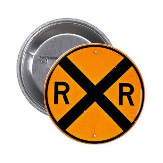Railroad Sign Button
