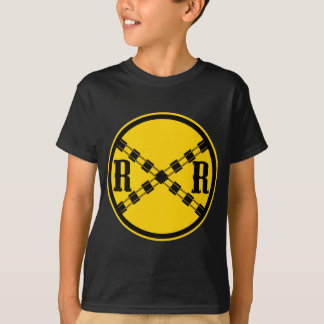 Railroad Sign Crossing T-Shirt
