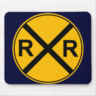 Railroad Sign Mouse Pad