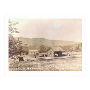 Railroad Sta , Towaco, Montville, NJ Vintage Postcard