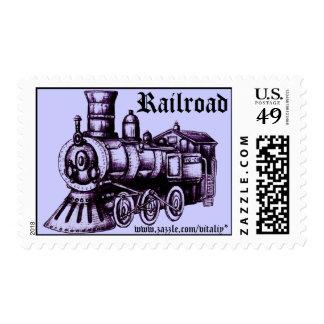Railroad stamp design