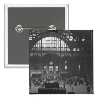 Railroad Station 2 Inch Square Button