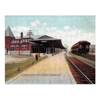 Railroad Station, Geneva, New York, Vintage Postcard