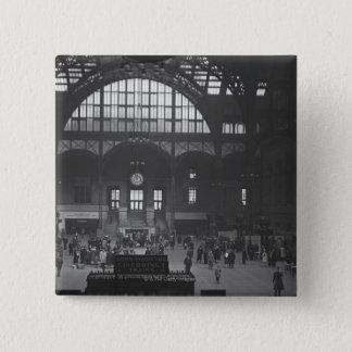 Railroad Station Pinback Button