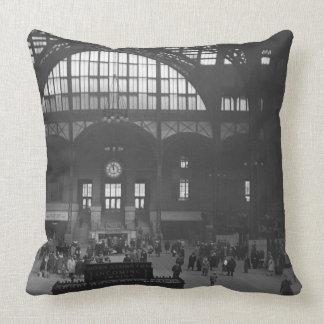 Railroad Station Throw Pillow