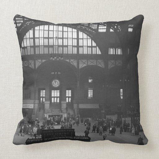 Railroad Station Throw Pillows