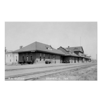Railroad Station View Posters