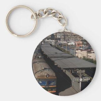 Railroad station, Vladivostok, Russia Basic Round Button Keychain