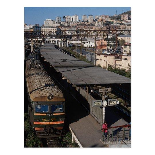 Railroad station, Vladivostok, Russia Postcard