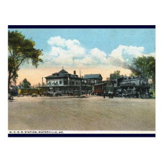 Railroad Station, Waterville, ME 1920 Vintage Postcard