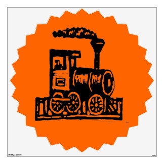 Railroad Steam Locomotive Custom Wall Decal
