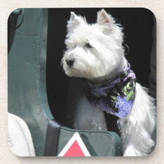 Railroad Terrier Dog Beverage Coaster