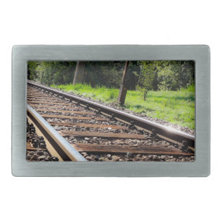 railroad track rectangular belt buckles