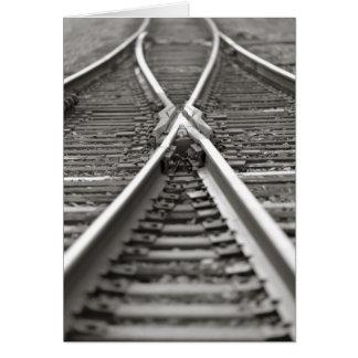 Railroad Track Crossing Card