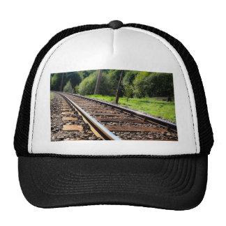 railroad track trucker hat