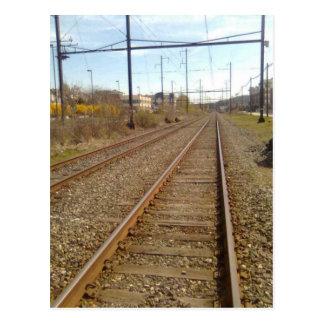 Railroad Track Postcard