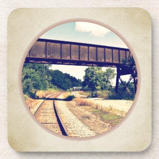 Railroad Tracks And Trestle Drink Coaster