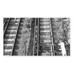Railroad Tracks, Black and White Picture. Double-Sided Standard Business Cards (Pack Of 100)