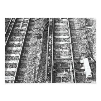 Railroad Tracks, Black and White Picture. Card