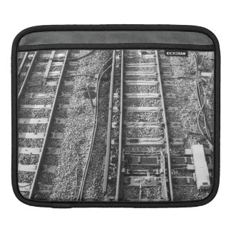 Railroad Tracks Black and White Picture iPad Sleeves