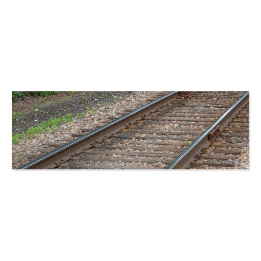 Railroad Tracks Bookmark Business Card Template
