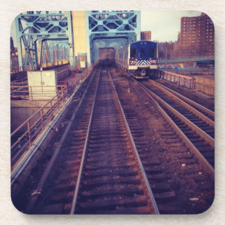 Railroad tracks coaster
