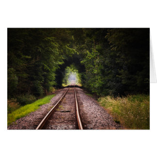 Railroad Tracks Countryside Peaceful Photo Note Card